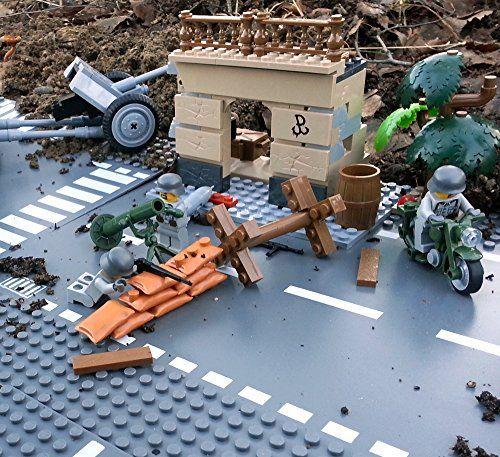 Modbrix 5510 - Bausteine Mörser Stellung mit Lego© Wehrmacht Soldaten, inkl. Motorrad NSU 201, Häuserruine, 80mm Granatwerfer Brigamo http://www.amazon.de/dp/B00RVOLKSE/ref=cm_sw_r_pi_dp_U8bjvb0F22XXX
