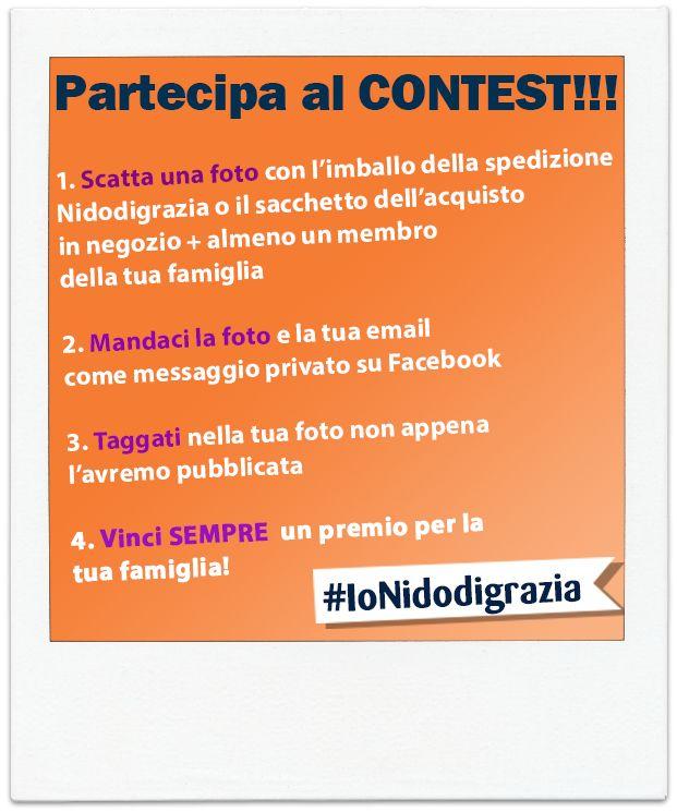 Partecipa al nostro Contest: per vincere BASTA UNA FOTO! http://www.nidodigrazia.it/ionidodigrazia  #ioNidodigrazia #contest #foto #premi #mamme #famiglia #bambini