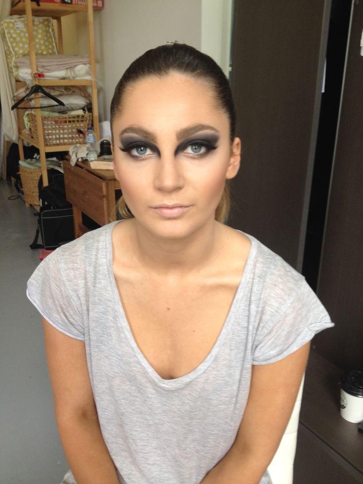 Avante garde eye makeup