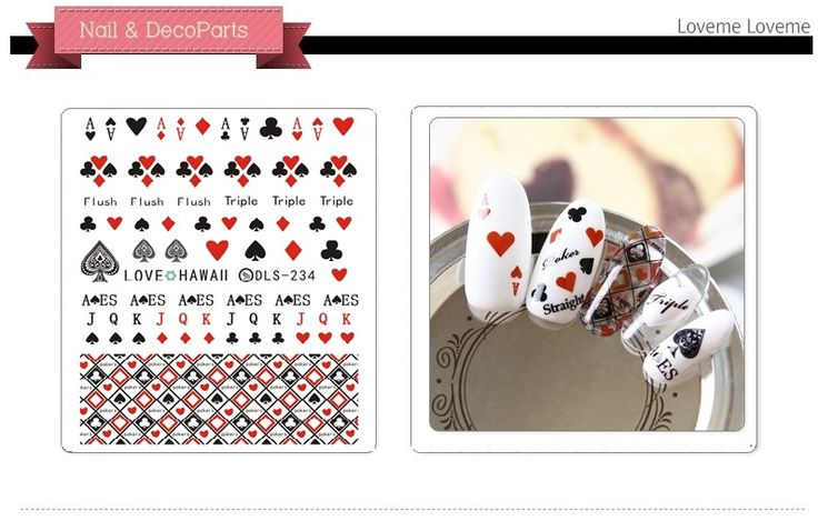 DLS231-240 DIY Water Transfer Foils Nail Art Sticker Fashion Nails Poker Hanna Lace Decals Minx Cute Nail Decorations