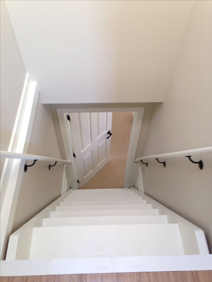Attic stairs from atop