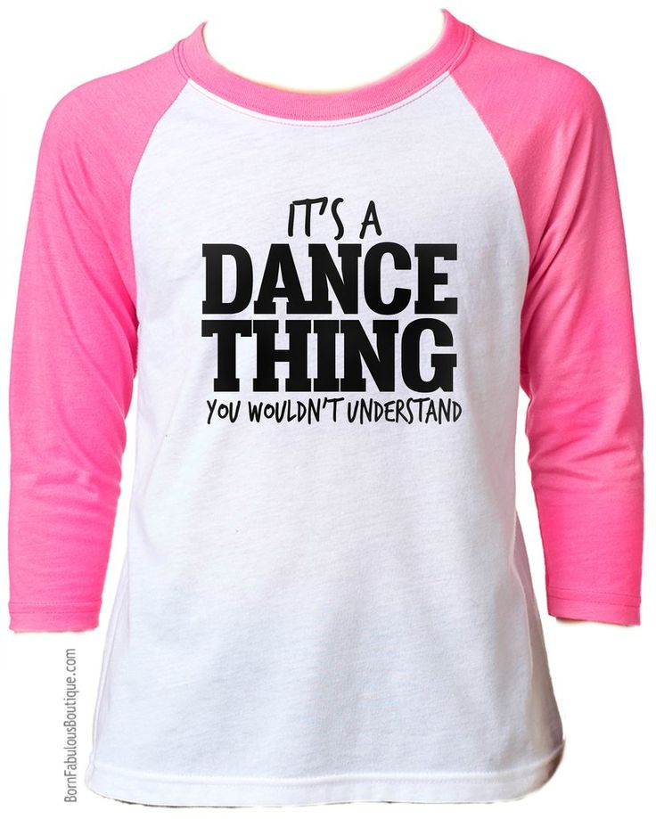 "So cute!  Girls Dance Shirt  ""It's A Dance Thing You Wouldn't Understand"" - Neon Pink"