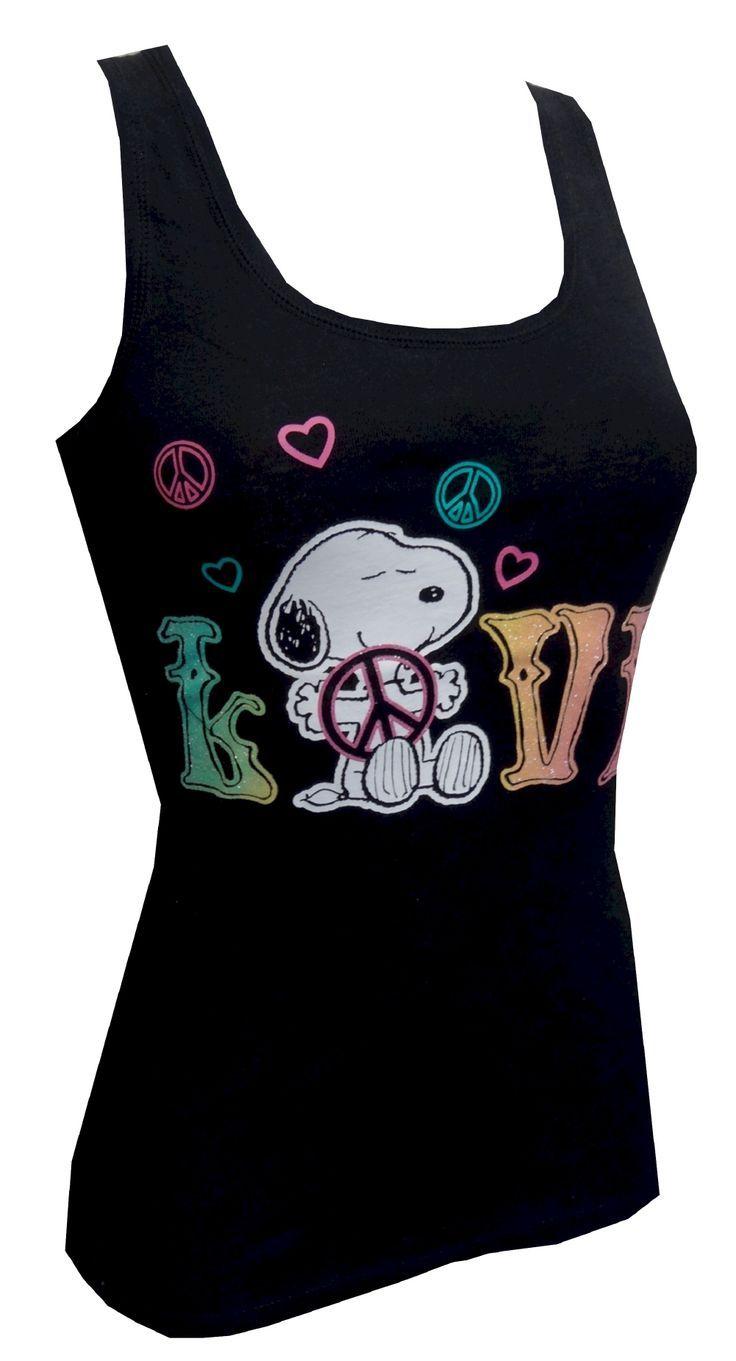 Snoopy Clothes for Women | snoopy clothes for women | Peanuts - Snoopy Sparkle Love & Peace ...