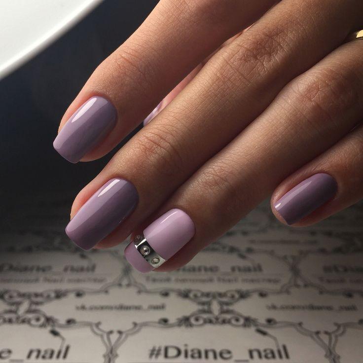 маникюр, сиреневые ногти с ремешком, дизайн ногтей, нейл арт, nail art, design style.manicure