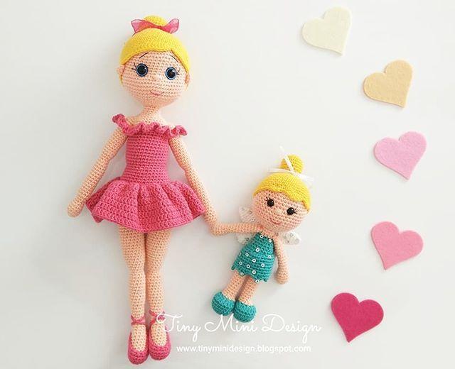 Amigurumi Tini Mini Kız Yapılışı-Free Pattern Tini Mini Dolls ... | 520x640