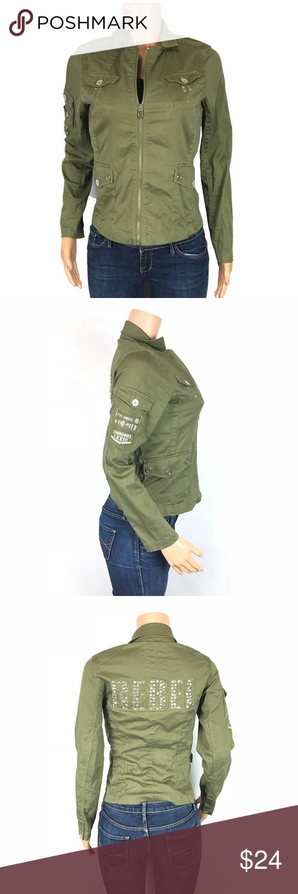 Pepe Jeans rebel zip jacket Cute Pepe  full zip jacket has a small defect shown in photos size Medium Pepe Jeans Jackets & Coats Utility Jackets