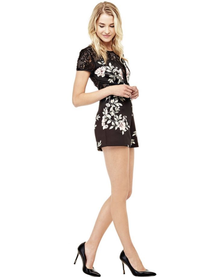 EUR99.90$  Buy now - http://vilvh.justgood.pw/vig/item.php?t=76hdmay37903 - FLORAL JUMPSUIT WITH LACE