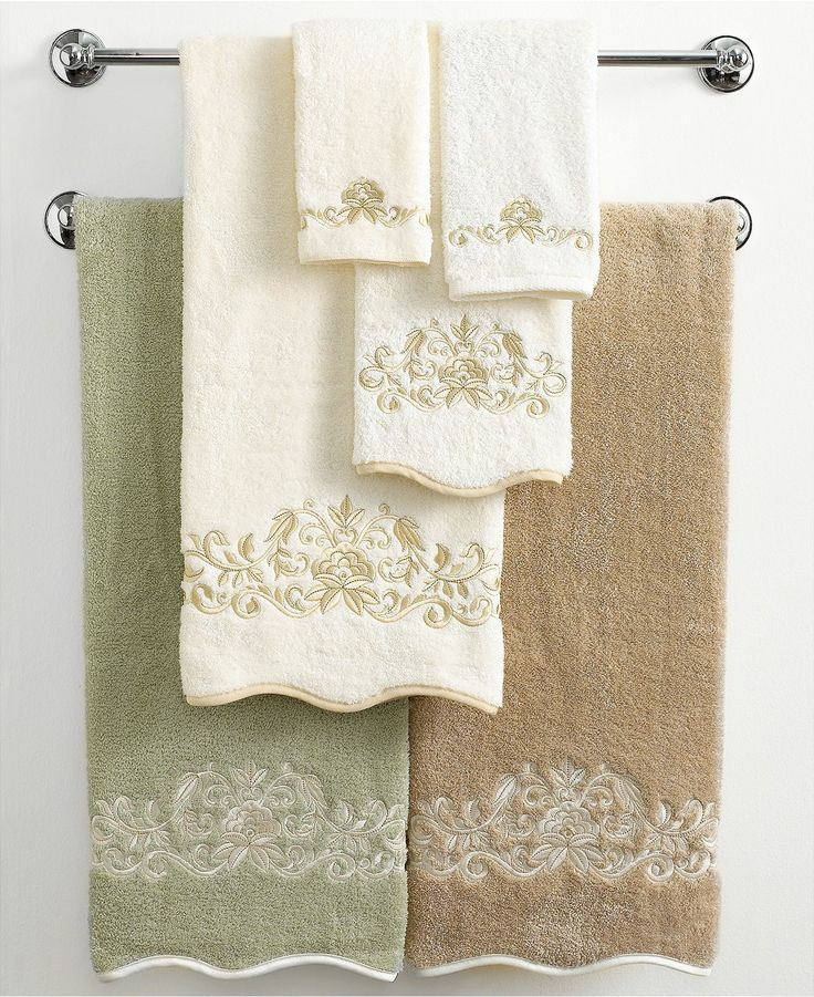 Avanti Bath Towels Venetian Scroll Collection