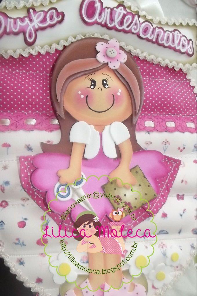 Lilica Moleca-Logomarca em placa de porta https://www.facebook.com/LilicaMoleca?fref=ts