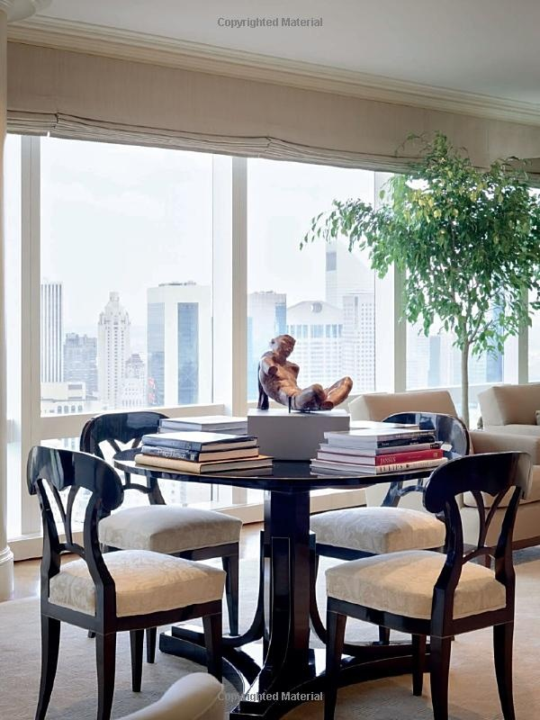Large ficus defines space in an apartment by Alexa Hampton
