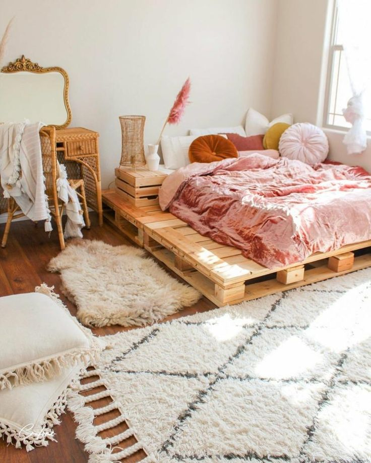 50+ adorable pallet bed ideas you will love in 2020 | pallet bed, wooden pallet beds