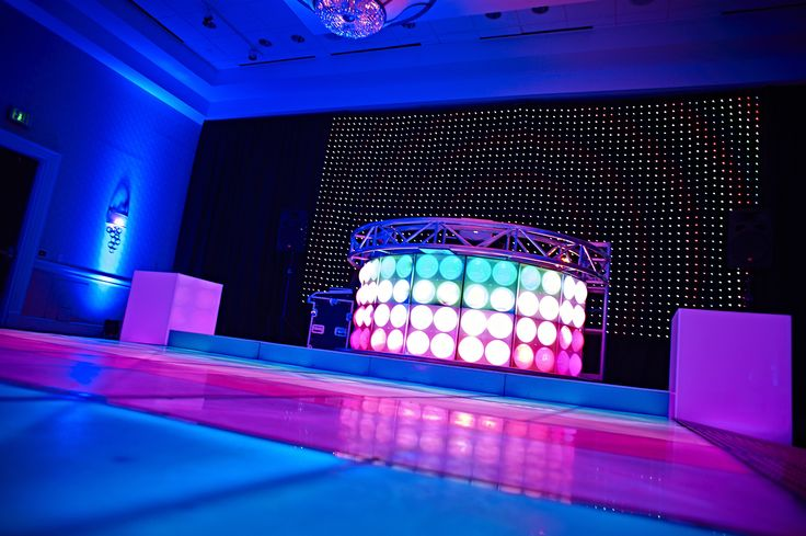 Circular Bubble LED DJ Booth / LED Curtain Wall. Uber Cool...
