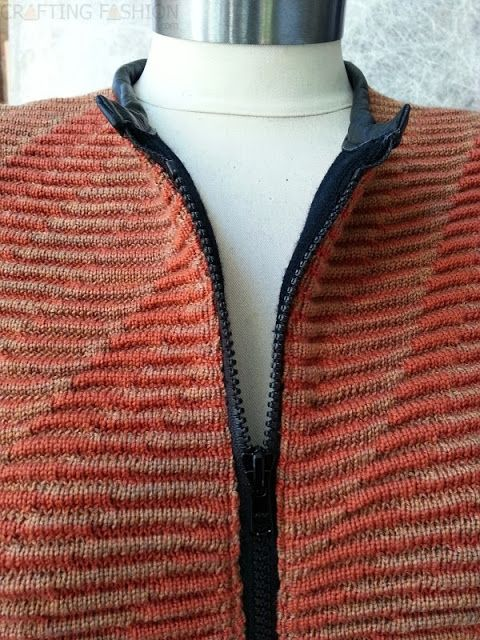 1c580133e695a Crafting Fashion  Inserting a Separating Zipper in Thick Squishy Sweater  Knit