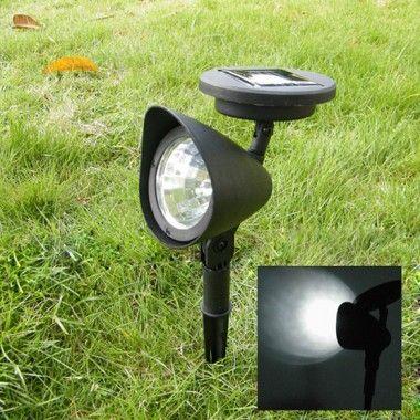 3 LED Outdoor Led Solar Powered Light Garden Spotlight Landscape Spot Light  Lamp