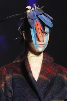 Hat (7a) by Prudence Millinery for Vivienne Westwood Gold Label Autumn Winter 2014 2015 http://viviennewestwood.prudencemillinery.com