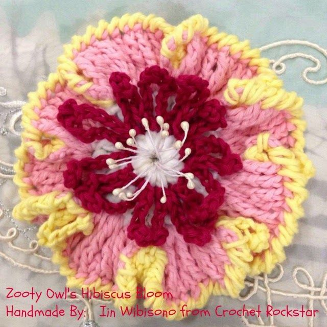 Free Crochet Pattern For Hibiscus Flower : 1389 fantastiche immagini su Crochet - Flowers & Leaves su ...