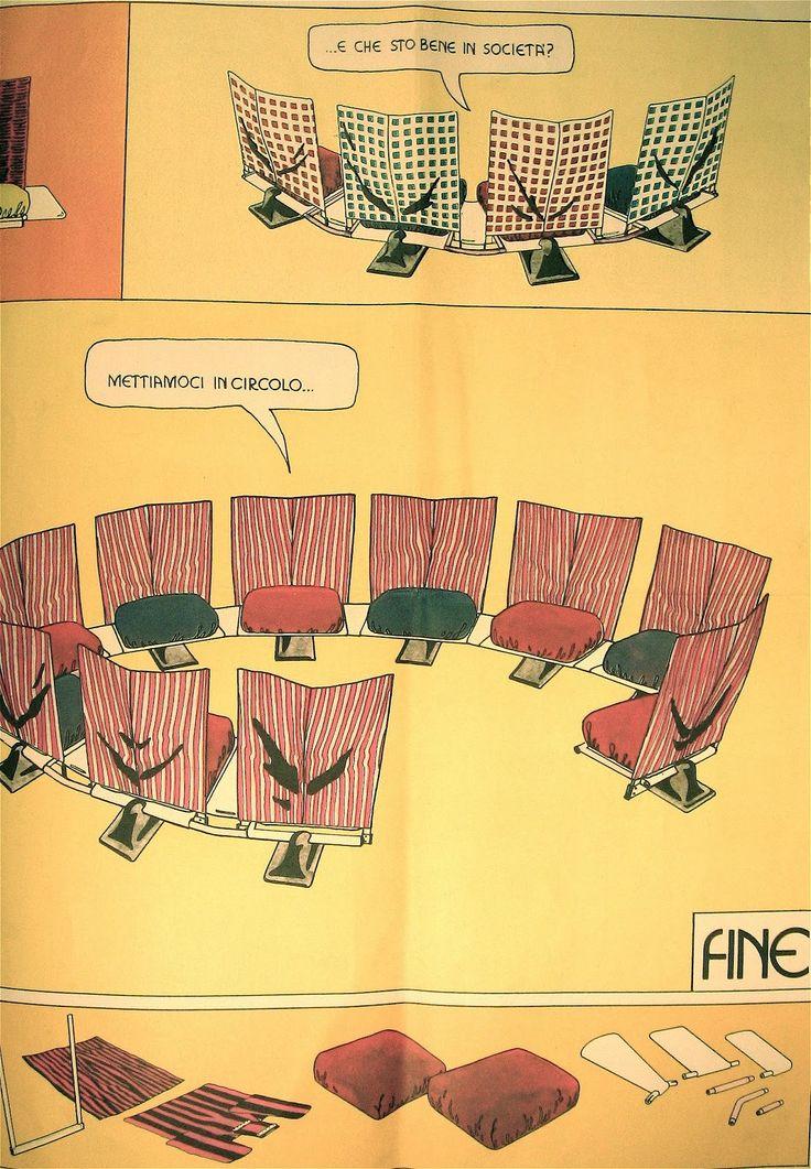 Archizoom Associati -AEO, pubblicità Cassina 1973