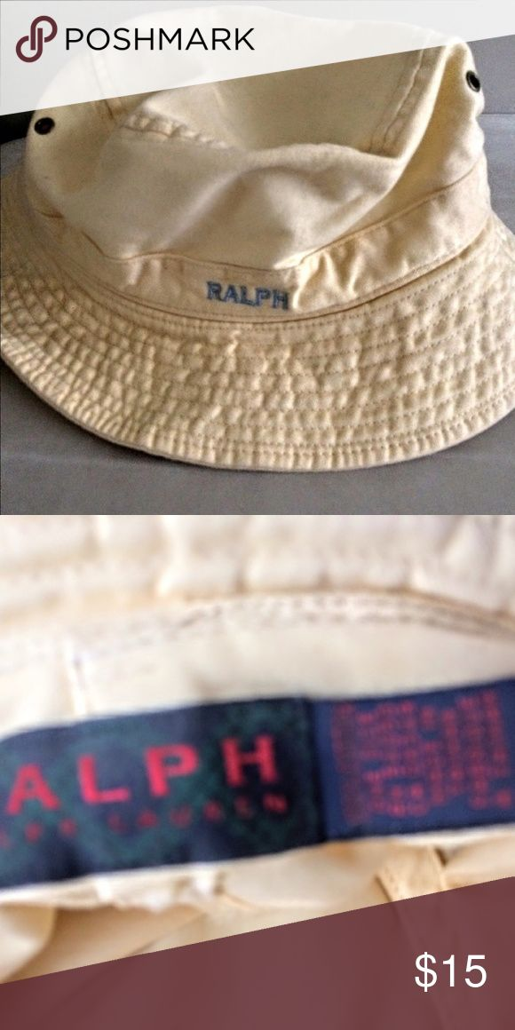 Ralph Lauren bucket hat New never worn from 1993 Ralph Lauren bucket hat one size fits all. It is a women's hat however would not be one size for all men! From Lord & Taylor. Ralph Lauren Accessories Hats