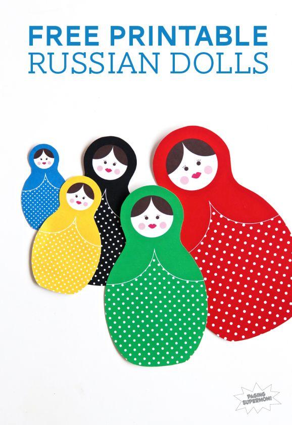 Free Printable Matryoshka Russian Dolls
