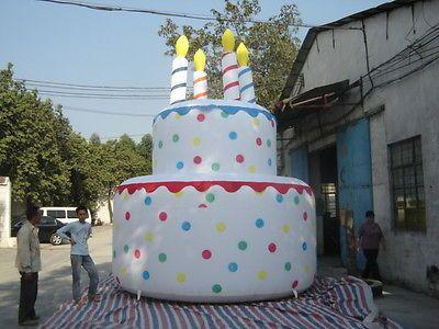 13'ft /4 Meter Inflatable Advertising Promotion Celebration Giant Birthday Cake