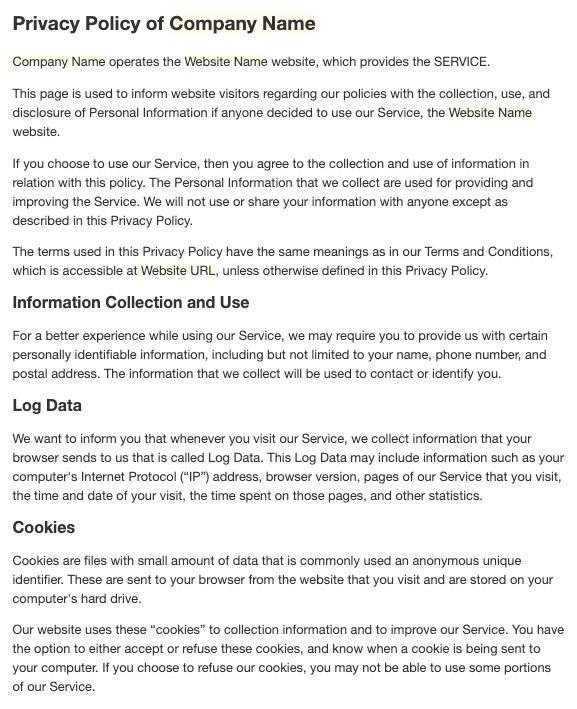 Google Play Console Privacy Policy Generator - 決定版!Googleアルゴリズムの変遷のすべて~前編~ | アイオイクスのSEO・CV改善・Webサイト集客情報 ... / The personal information that i collect is used for providing and improving the service.