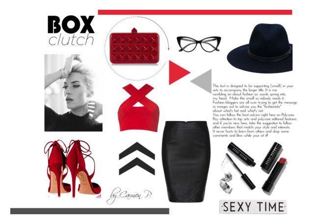 """Clutch time"" by carmen-georgiana ❤ liked on Polyvore featuring rag & bone, Aquazzura, Valentino, Motel, Bobbi Brown Cosmetics, Rosanna, women's clothing, women's fashion, women and female"