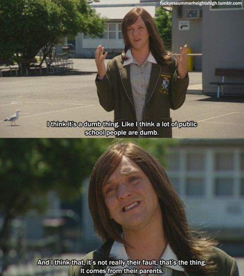And the time she was an advocate for her public school peers: | 22 Times Ja'mie King Was The Most Real And Inspiring Person On Television