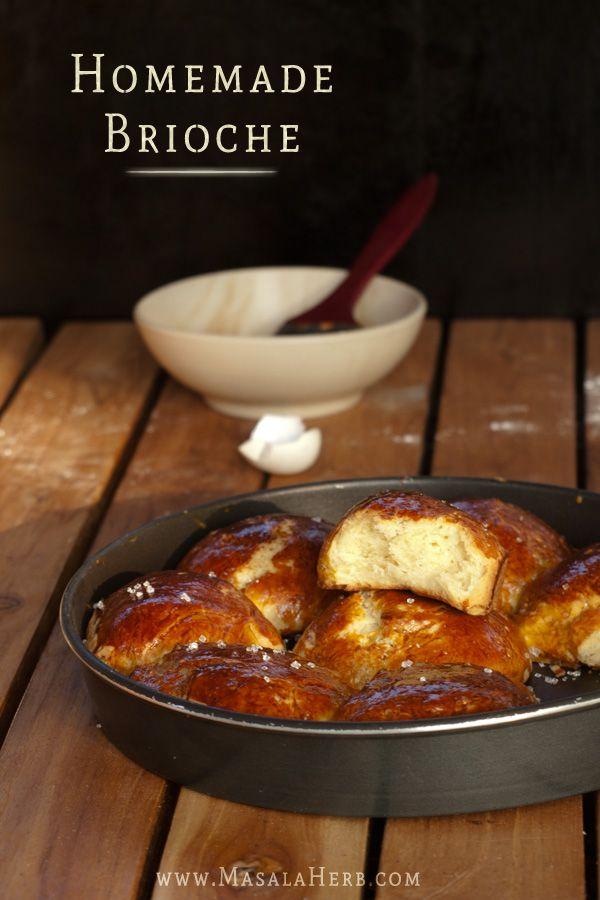 Homemade Brioche www.masalaherb.com