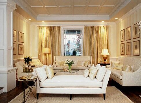 Cream And Gold Living Room Daybedgold Roomsformal