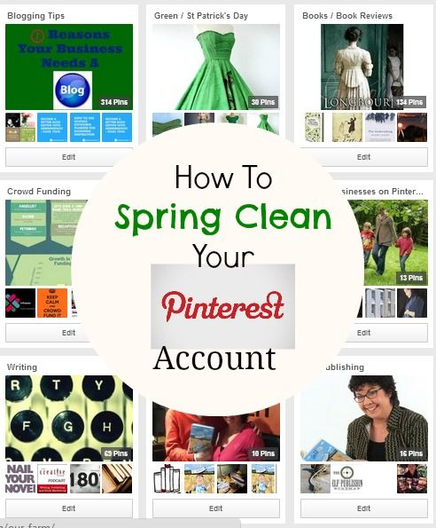 How to spring clean your Pinterest account. Tips for cleaning up your Pinterest Boards.  h/t @j+ Media Solutions