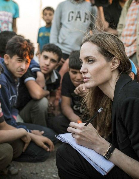 Angelina Jolie is perhaps most influential in her role as a UN High Commissioner for Refugees Goodwill Ambassador, advocating on behalf of refugees around the world.