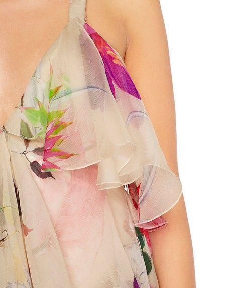 Blumarine Stories • Roses - Silk Chiffon Floral Print Dress