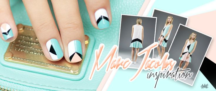 Marc Jacobs inspired nails by Pshiit