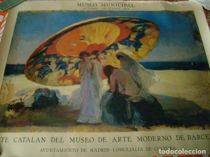 CARTEL EXPOSICIÓN ARTE CATALÁN, MUSEO MUNICIPAL DE MADRID 1984. MEDIDAS 66x85 CMS.