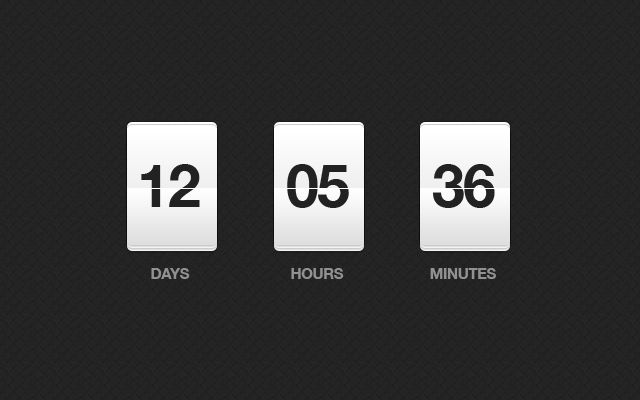 Quick Tip: Design a Countdown Clock in Under 15 Minutes - Tuts+ Web Design Article