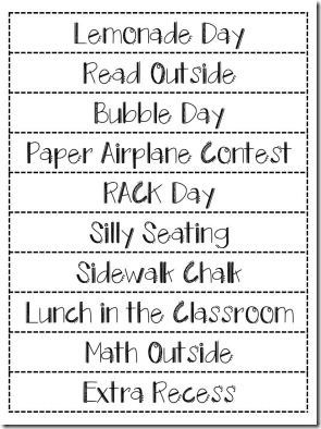 End of Year Countdown Freebie - count down the last 10 days of school with fun activities
