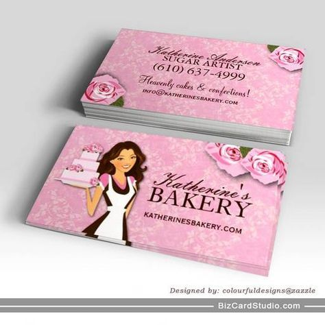 The 25 best logos images on pinterest bakery business cards fully customizable cake artist business card template designed by colourful designs inc fbccfo Image collections