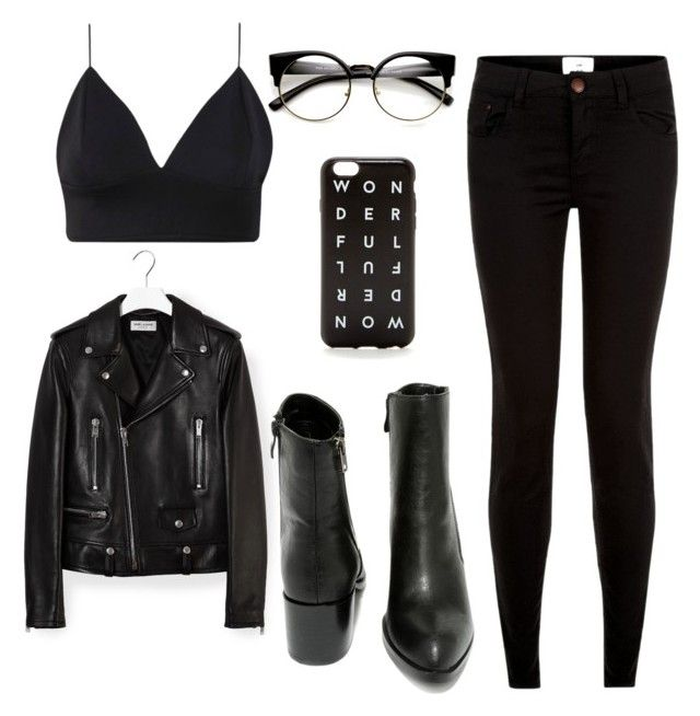 """""""Black paradise"""" by the-reyd on Polyvore featuring мода, Yves Saint Laurent, Very Volatile и J.Crew"""