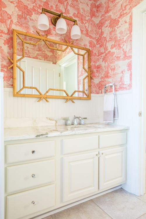 Cole U0026 Sons Pink Toile Wallpaper