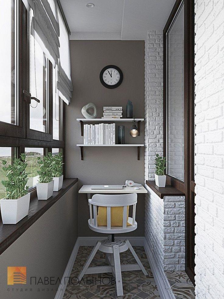 Фото: Лоджия - Интерьер квартиры в стиле легкой классики, ЖК «Академ-Парк», 68…