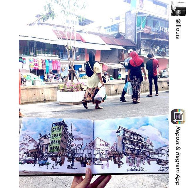 Repost from @lllouis Monthly trip with Bangkok Sketchers #lllouissketcher #urbansketchers #bkksketchers #arquitetapage #arch_more by urbansketchers