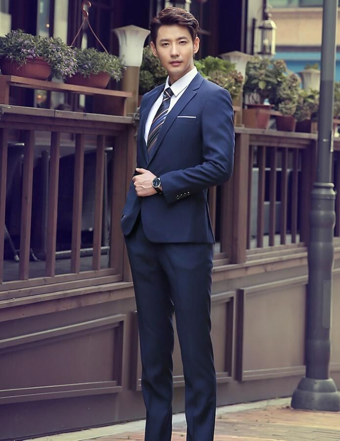 jacket + pants men's suit business attire suits two-piece high quality wedding the groom's best man suit dancing party suit