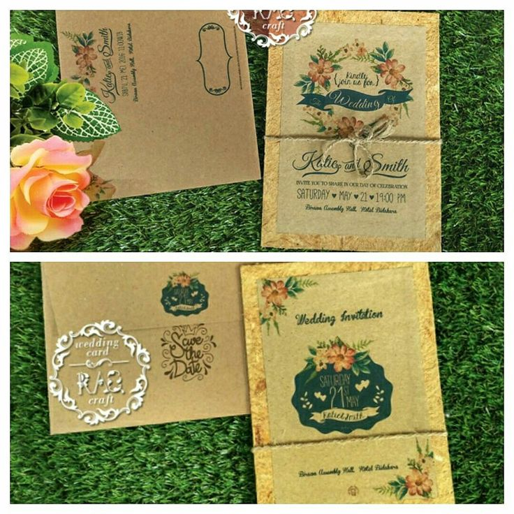 Rustic Invitation Wedding 087874240106