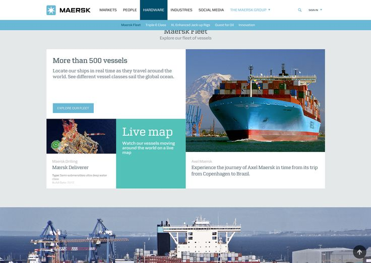 Nice example of a featured article here, good rollover effect.  The use of the corporate colours on this page are also nicely done.