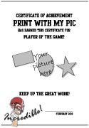 Football certificate templates to print - printable sports awards you can add a team photo or player's picture to