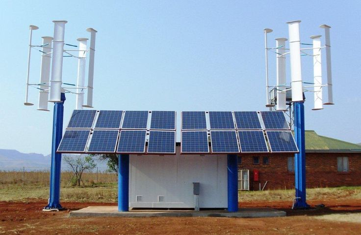 solar and wind system for full utility coverage.