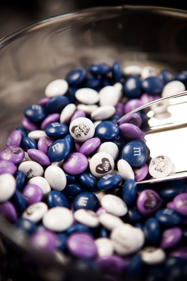 Get your wedding date, special messages, wedding colors, or even your face printed on custom M&Ms. They make excellent favors and can be displayed at a dessert bar too! | 28 Creative And Meaningful Ways To Add A Personal Touch To Your Wedding