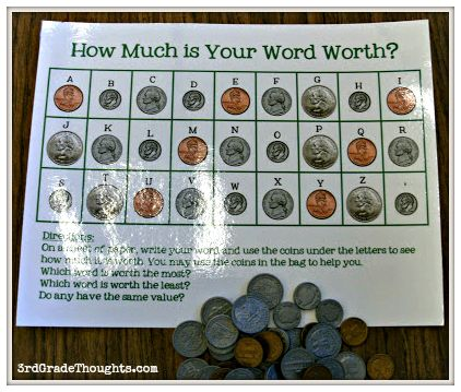 how much is your name worth math activity | This is a fantastic way to combine math and spelling!
