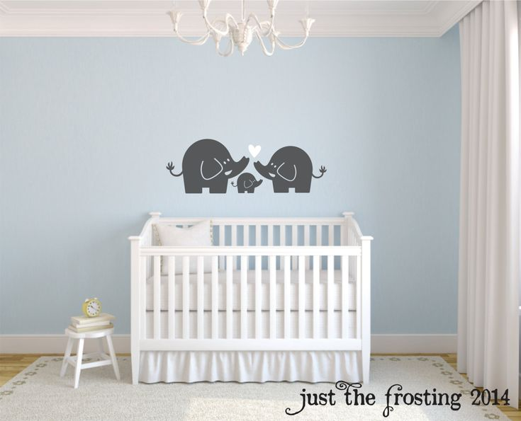 elephant family wall decal nursery elephant wall decal baby boy or girl family vinyl wall decal elephant wall art elephant family decor