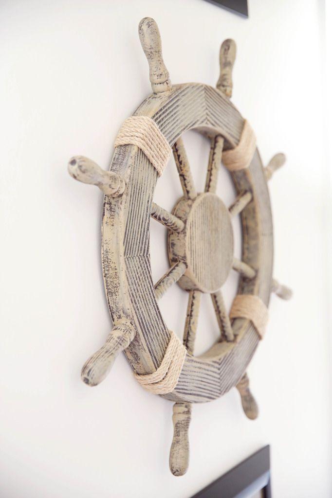 Nautical Nursery Decor We Love This Ship Steering Wheel As Wall Decor From Hobbylobby Neverland Nursery Nautical Nursery Nautical Nursery Decor
